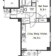 最上階南西角部屋2面窓